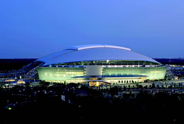 Just three games at Cowboys Stadium in the first 11 weeks of the season