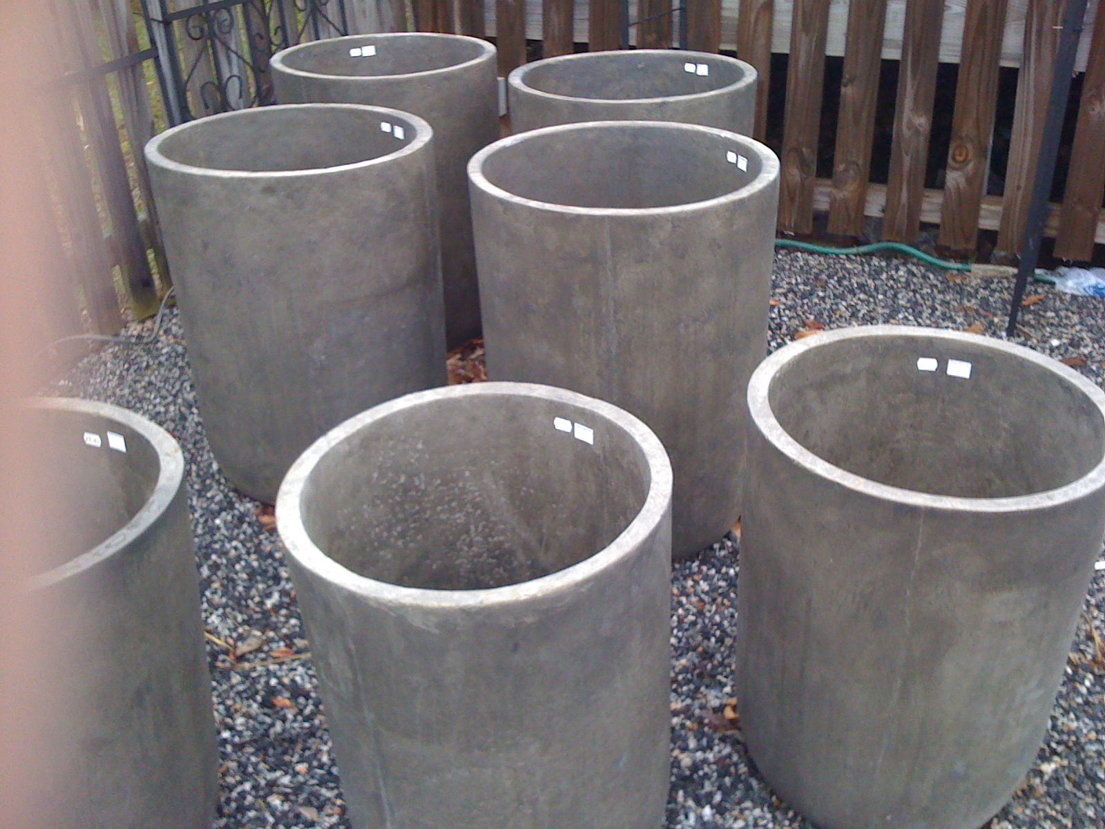 Tall Concrete Planters Design Loft The Design Blog Of